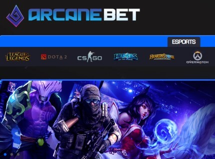 As Arcanebet is a dedicated eSports betting website.