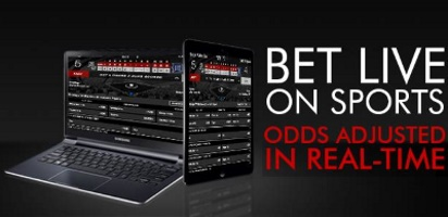 The live betting section is easy to navigate and with lots of betting selections.